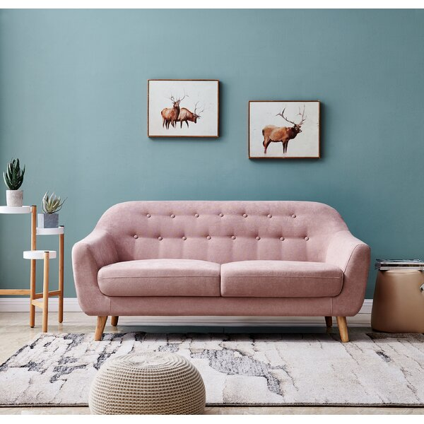 Breeze Soft Modern Loveseat by Corrigan Studio