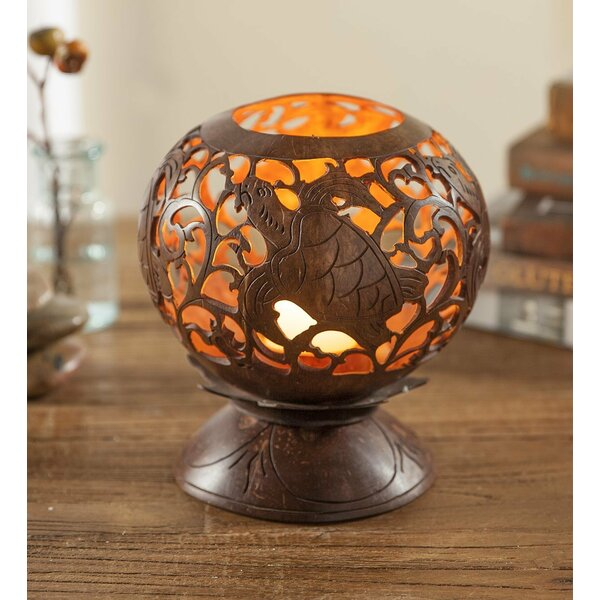 Hand-Carved Coconut Lantern by Wind & Weather