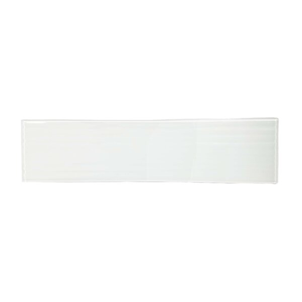 Monroe 4 x 16 Glass Wood Look/Field Tile in White by Abolos