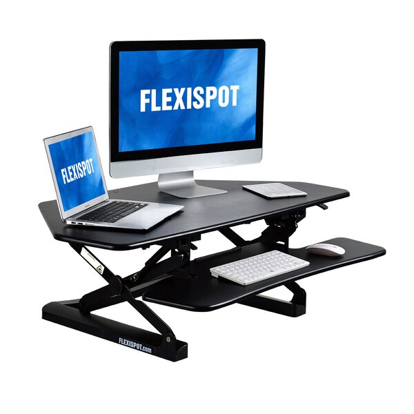 Height Adjustable Corner Standing Desk Converter
