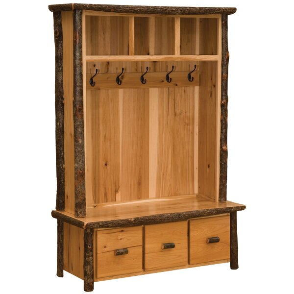 Cason Hickory Entry Locker Hall Tree