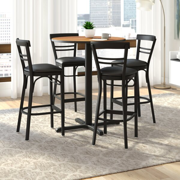 Brodeslavy 5 Piece Pub Table Set by Latitude Run