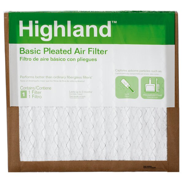 Highland Basic Pleated Air Filter (Set of 6) by 3M