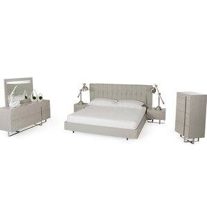 Clower Platform 5 Piece Wood Bedroom Set by Orren Ellis