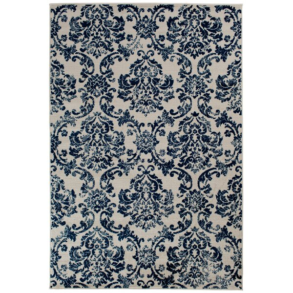 Hunter Blue Area Rug by Charlton Home