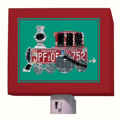 License Plate Choo Choo Train Night Light by Oopsy Daisy
