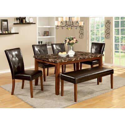 Hokku Designs Madrid 6 Piece Breakfast Nook Dining Set