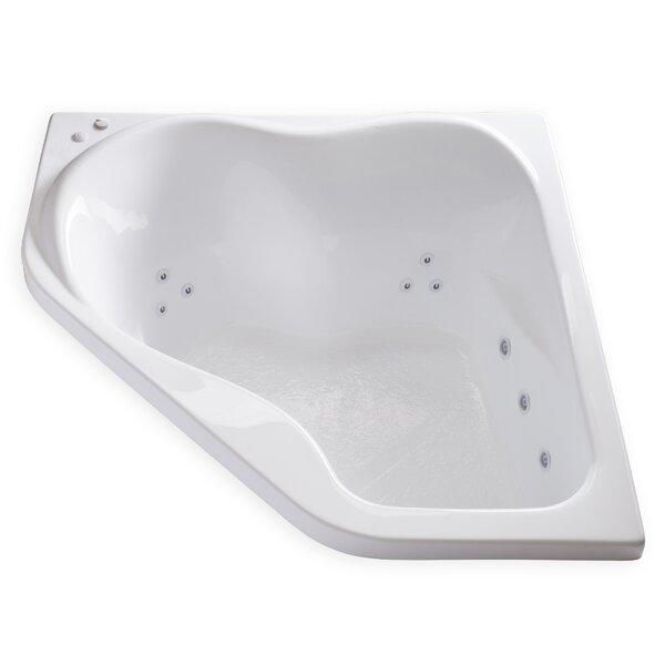Hygienic Aqua Massage 59 x 59 Whirlpool Bathtub by Carver Tubs