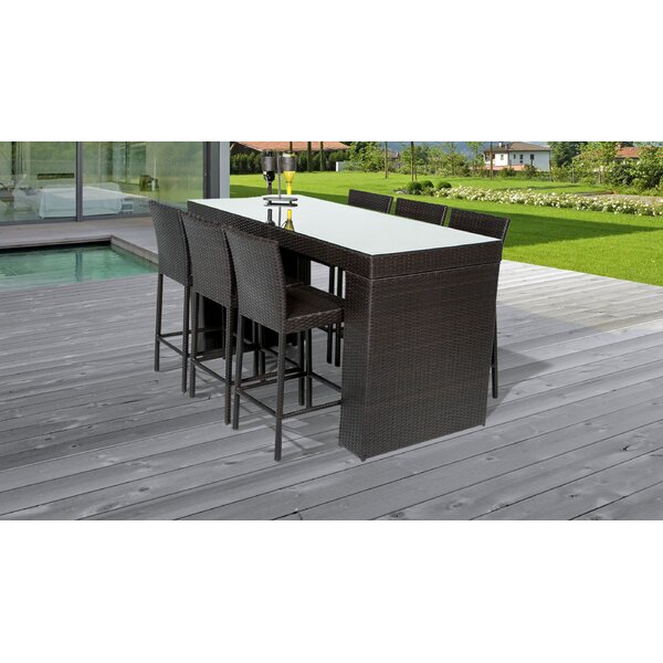 Fernando 7 Piece Bar Height Dining Set By Sol 72 Outdoor