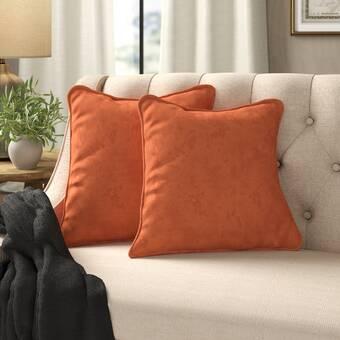 One Allium Way Amery Chain Link Embroidered Linen Throw Pillow Wayfair