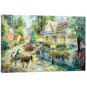 'A Country Greeting' Painting Print on Canvas by East Urban Home