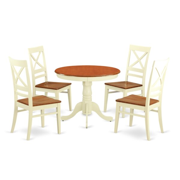 #1 5 Piece Dining Set By Wooden Importers Savings