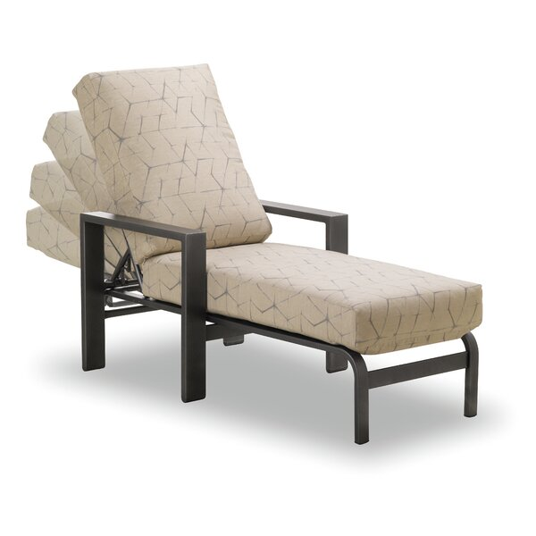 Larssen Deep Reclining Chaise Lounge with Cushion by Telescope Casual