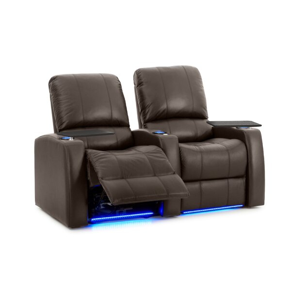 Leather Home Theater Row Seating (Row Of 2) By Latitude Run