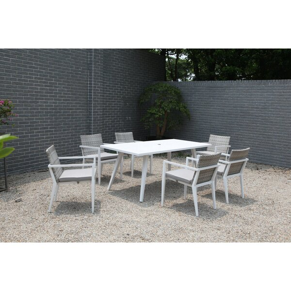 Esteban 7 Piece Dining Set with Cushions by Corrigan Studio