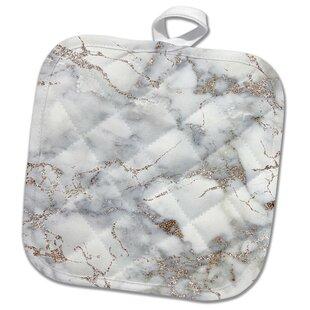 9c46ebdefd3 Image of Luxury Trendy Rose Blush Glitter Marble Agate Quartz Pot Holder