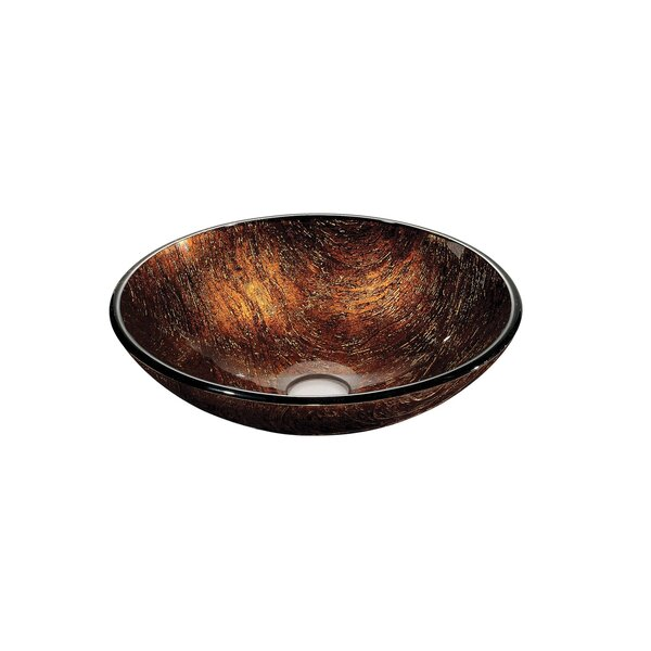 Tempered Glass Circular Vessel Bathroom Sink by Dawn USA