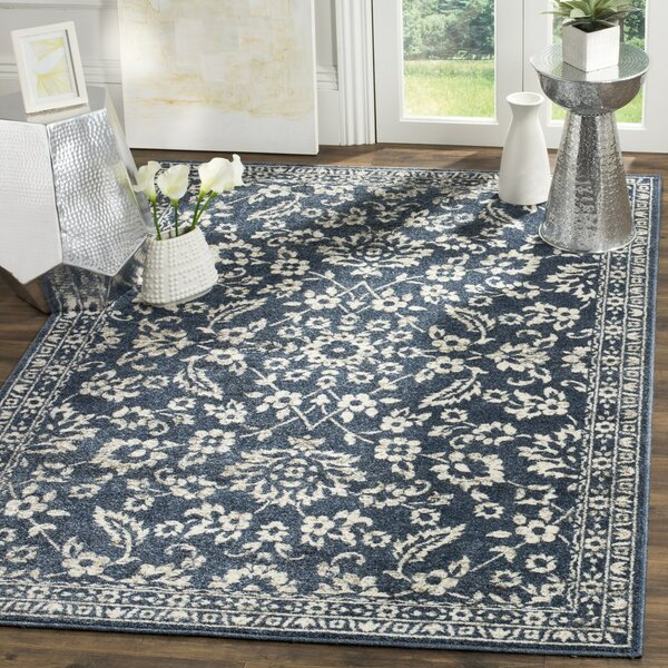 Arthur Blue/Beige Area Rug by Charlton Home