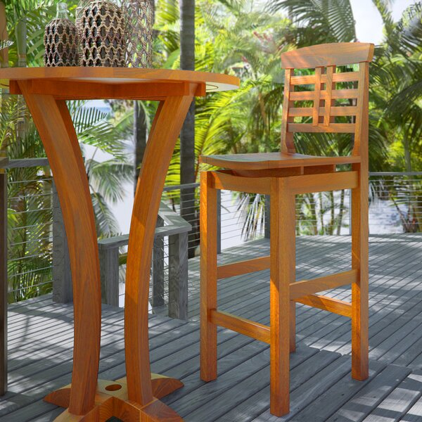 Mallie 29.5 Patio Bar Stool by Beachcrest Home