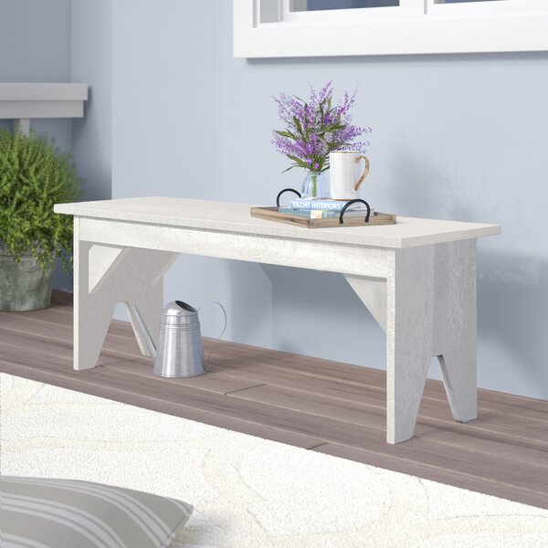 Alanna Plastic Park Bench by Beachcrest Home