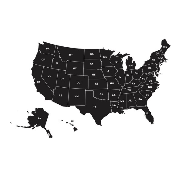 Dana Decals Map Of The United States Small Wall Decal Reviews - Small us map
