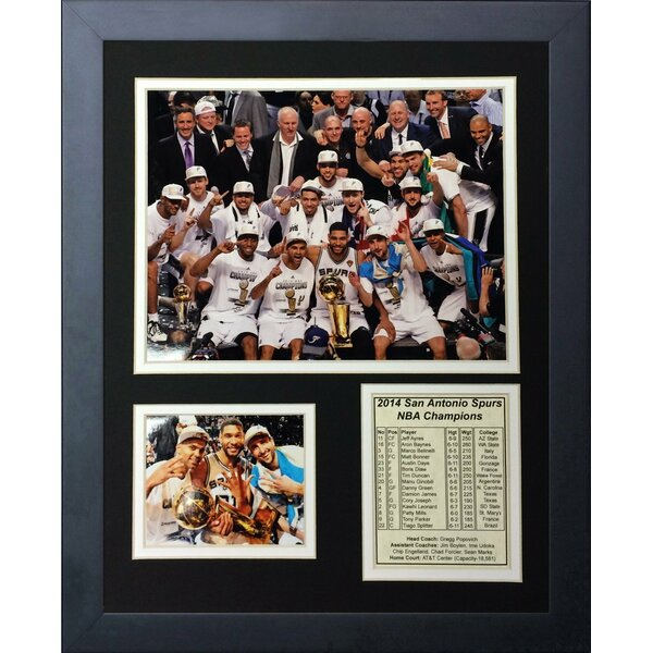 2014 San Antonio Spurs NBA Champions Podium Framed Memorabilia by Legends Never Die