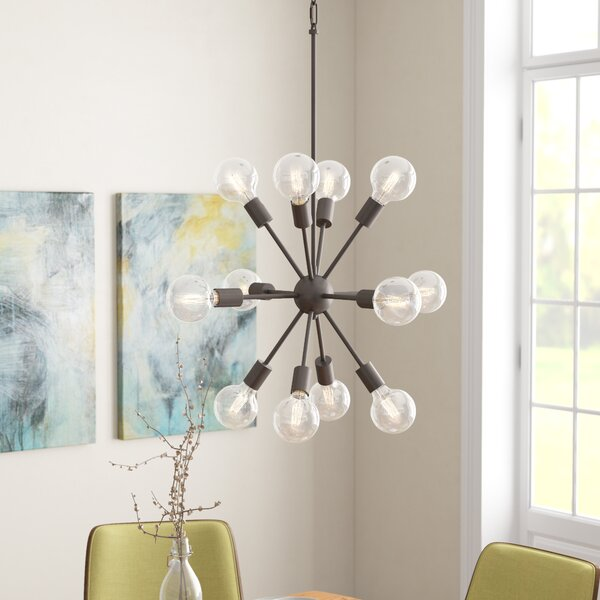 Alsfeld 12-Light Sputnik Chandelier by Langley Street