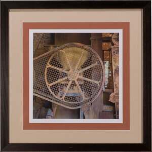 'Pulley' Giclee Framed Photographic Print by Sarreid Ltd