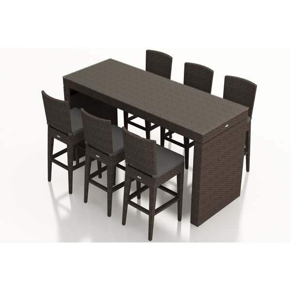 Arden 7 Piece Bar Height Dining Set with Cushions by Harmonia Living