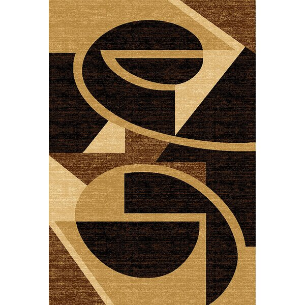 Mccampbell 3D Brown/Yellow Area Rug by Ivy Bronx