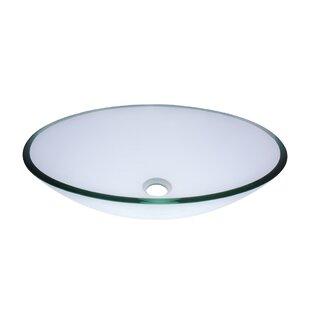 Coupon Ovale Glass Oval Vessel Bathroom Sink By Novatto
