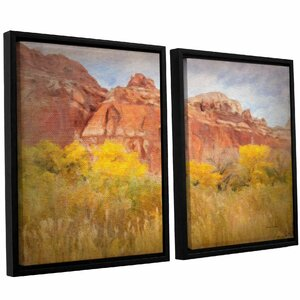 Southwest Splendor 2 Piece Framed Painting Print o