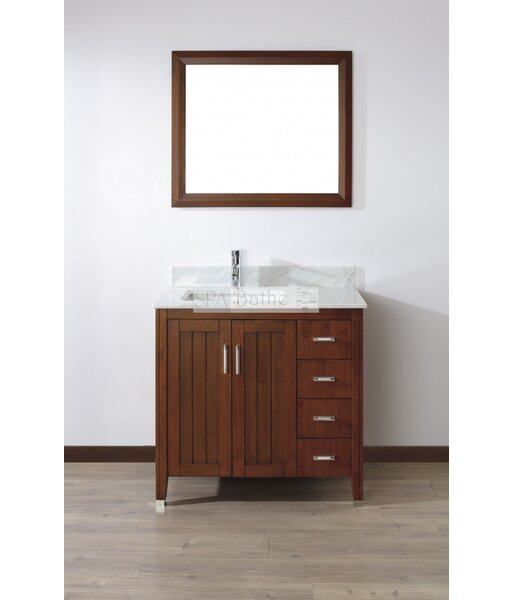Jacchi 36 Single Bathroom Vanity Set with Mirror by Bauhaus Bath