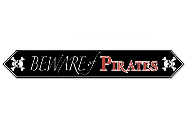 Printed Beware of Pirates Table Runner (Set of 12) by The Beistle Company