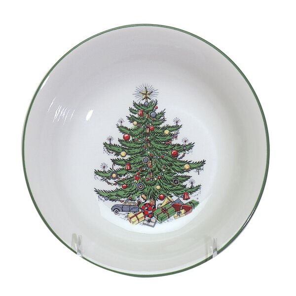 Original Christmas Tree Traditional Circle Cereal Bowl (Set of 2) by The Holiday Aisle