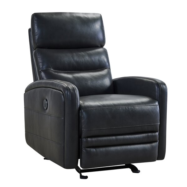 Goodlow Contemporary Leather Power Recliner By Latitude Run