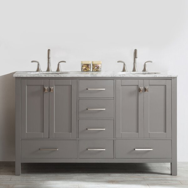 Newtown 60 Double Bathroom Vanity by Beachcrest HomeNewtown 60 Double Bathroom Vanity by Beachcrest Home