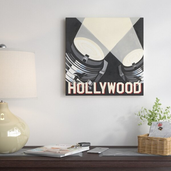 Hollywood Graphic Art on Wrapped Canvas by East Urban Home