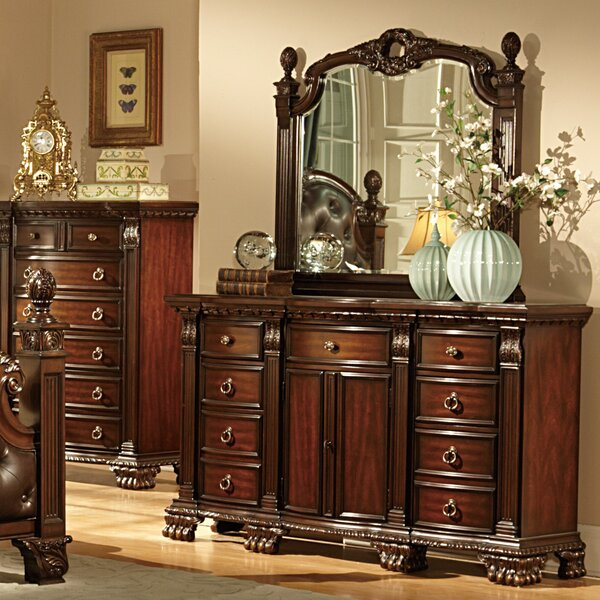 Amazing Orleans 9 Drawer Combo Dresser With Mirror By Woodhaven Hill Read Reviews