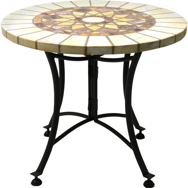 Dia Marble End Table by Outdoor Interiors