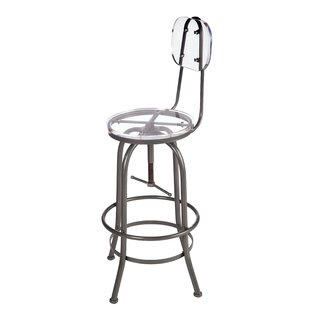 Zaine Adjustable Height Swivel Bar Stool by 17 Stories