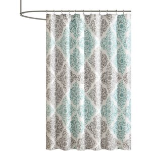 turquoise and coral shower curtain. Frederica Shower Curtain Curtains You ll Love  Wayfair