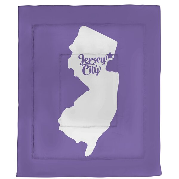 Jersey Jersey City New Single Reversible Comforter