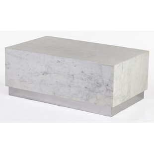 MarbleGraniteTop Coffee Tables Youll Love Wayfair - Rectangle white marble coffee table