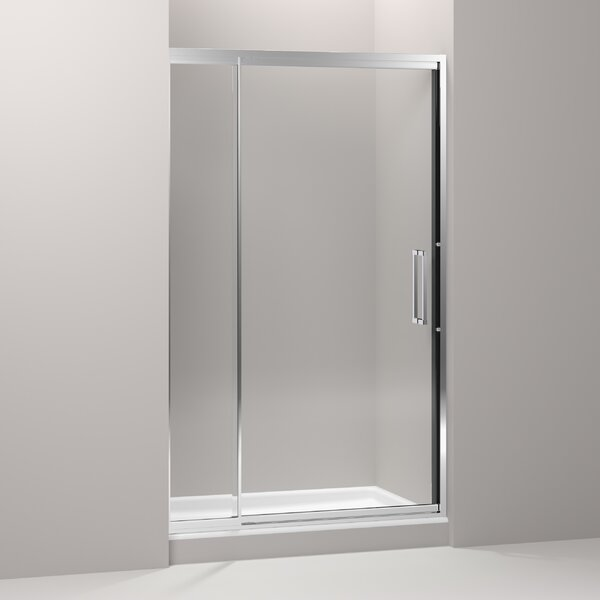 Lattis 48 x 76 Pivot Shower Door with CleanCoat® Technology by Kohler