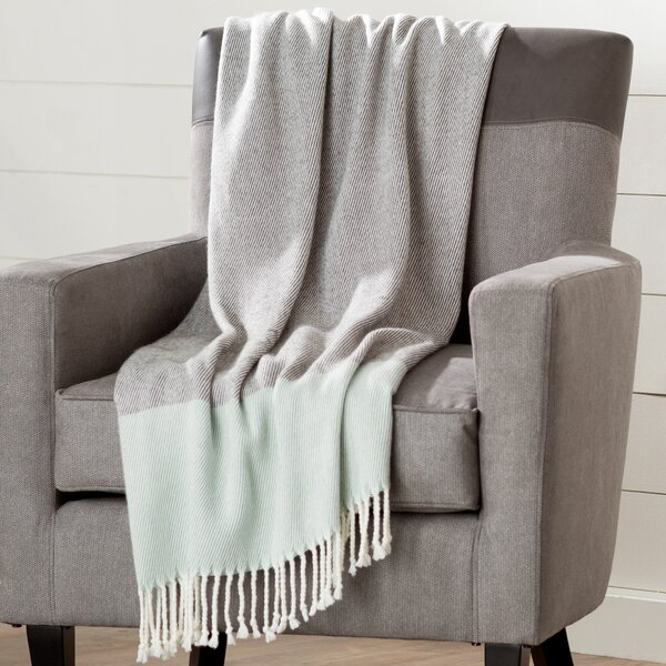 Bowen Color Block Throw by Eider & Ivory
