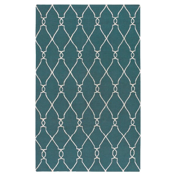 Findley Turquoise/Ivory Area Rug by Darby Home Co