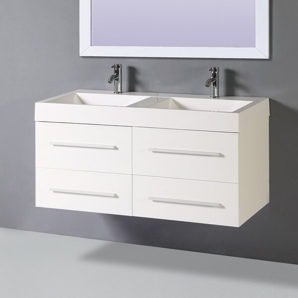 Marin 47 Double Vanity Set with Mirror by Orren Ellis