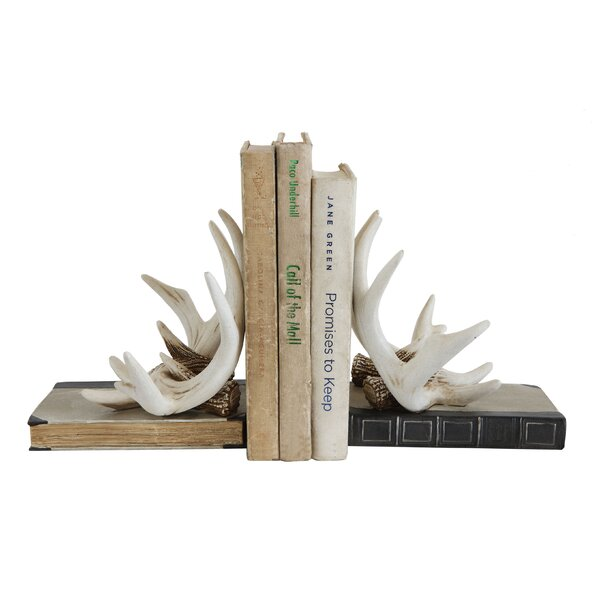 Resin Antler Bookends (Set of 2) by Union Rustic