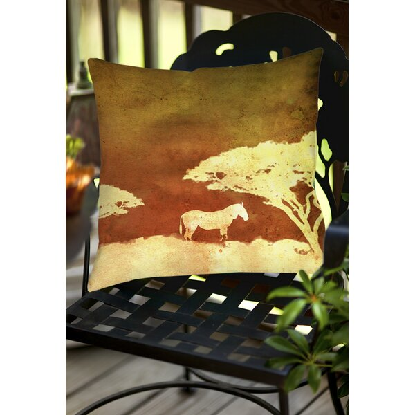Safari Sunrise 3 Indoor/Outdoor Throw Pillow by Manual Woodworkers & Weavers